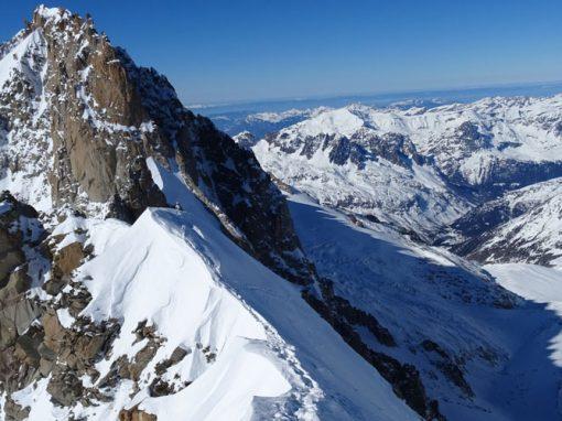 Les Courtes – Nordwand über die Schweizerführe